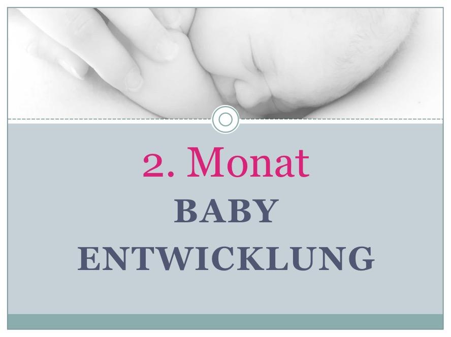 Entwicklung Baby Monat 2 - Babyratgeber