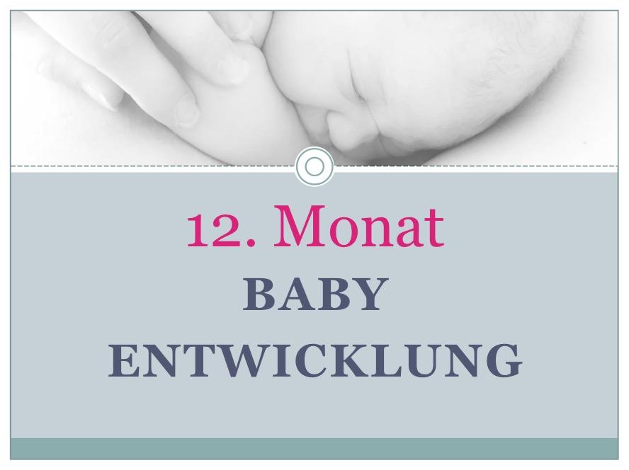 Entwicklung Baby Monat 12 - Babyratgeber