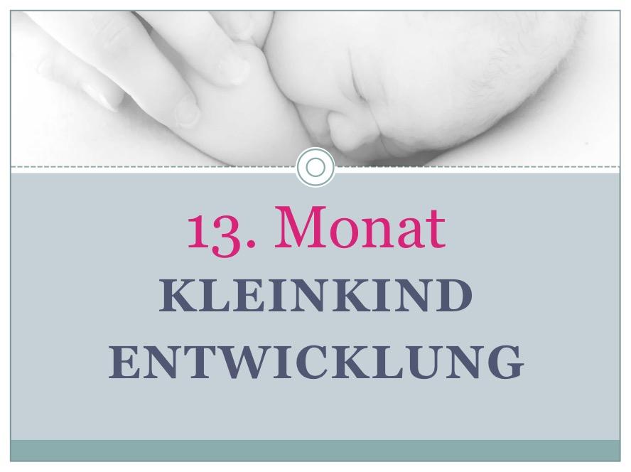 Entwicklung Kleinkind Monat 13 - Babyratgeber