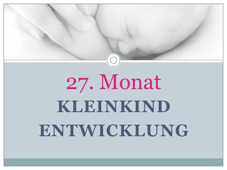 Entwicklung Kleinkind Monat 27 - Babyratgeber