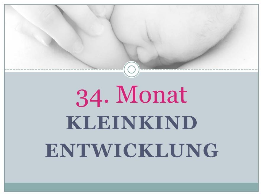 Entwicklung Kleinkind Monat 34 - Babyratgeber