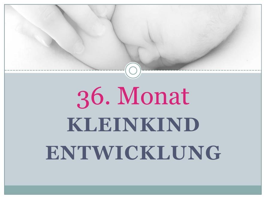 Entwicklung Kleinkind Monat 36 - Babyratgeber