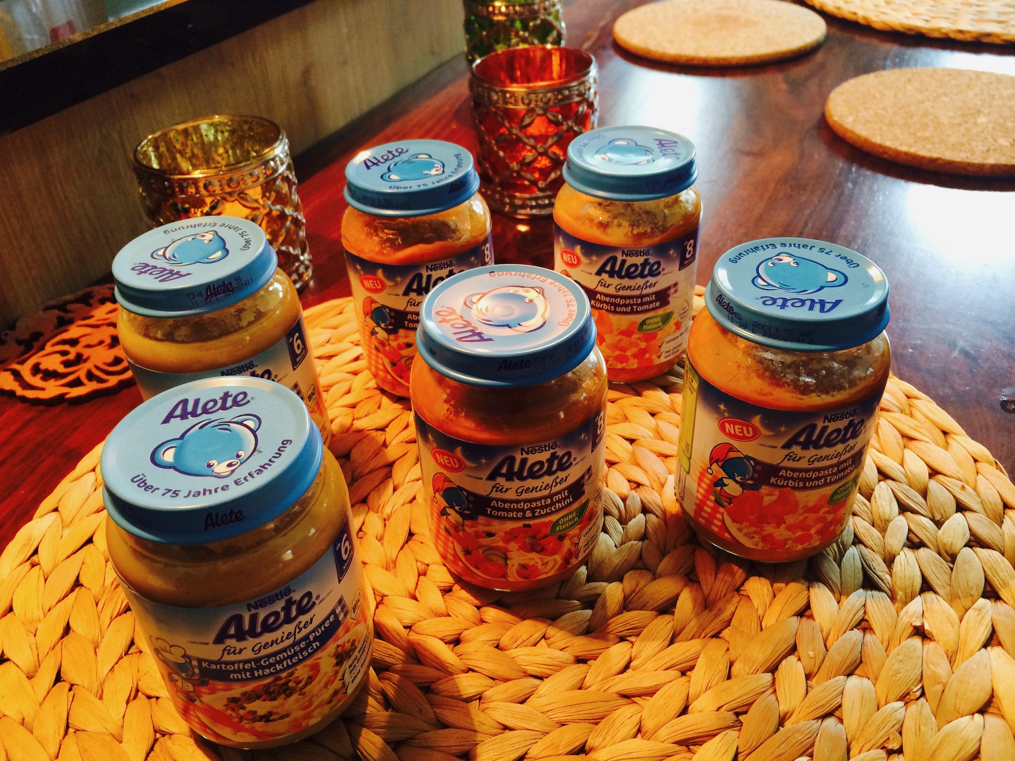 Alete Beikost Gläschen Brei Bio Nahrung Babynahrung Produkte 6 bis 8 Monate Foto: Babyratgeber.app