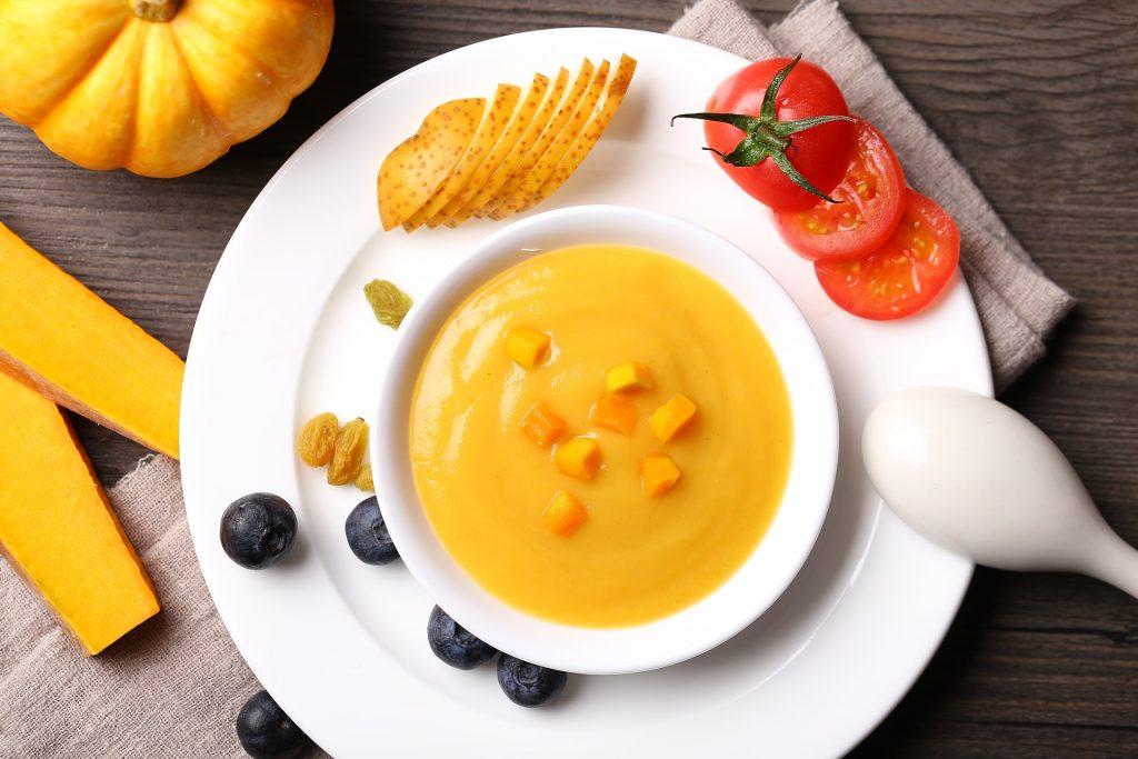 Babynahrung Babyernährung zuckerfrei Kürbis lebensmittel gesund gemüse mahlzeiten Bio Nahrung CC0 Creative Commons Foto: Pixabay