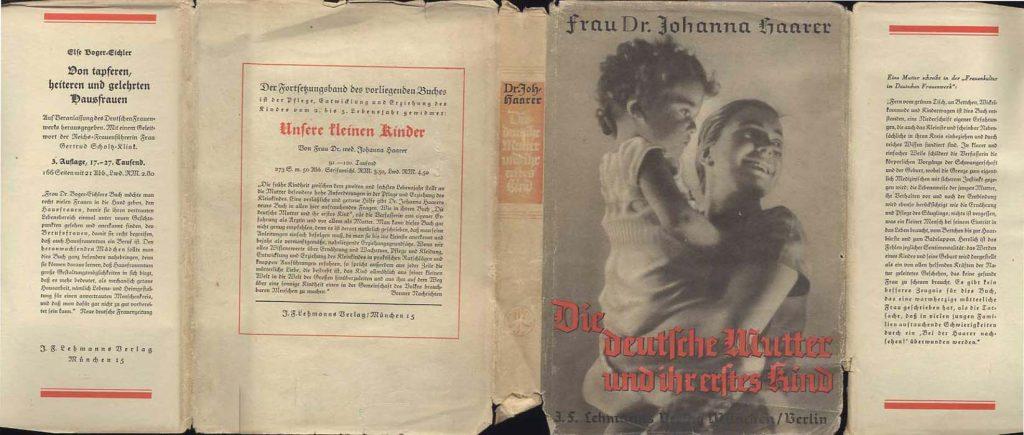 """Buch Cover: Haarer, Johanna - """"Die deutsche Mutter und ihr erstes Kind"""" Foto Quelle: Sachbuchforschung.de"""