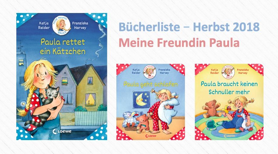 """""""Meine Freundin Paula"""" Durch den Herbst mit Paula Abenteuern – Bücherliste"""